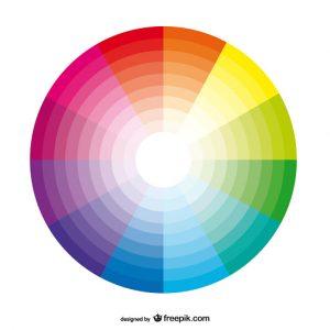 Barevná škála pro výběr barvy gumiček na rovnátka